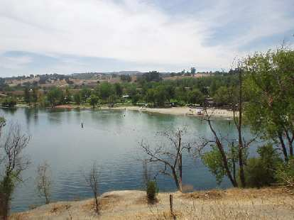 Passing by Shadow Cliffs in Pleasanton, where I had missed a Tri-for-Fun in the morning.