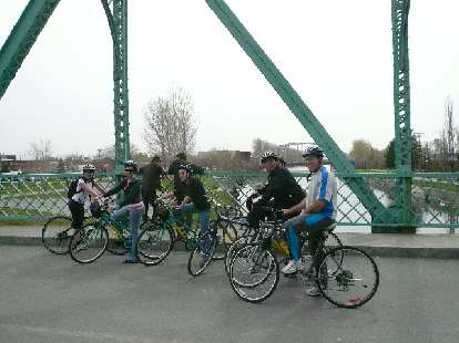One afternoon, a bunch of us rented bicycles for a leisurely ride on the Canal de Lachine bike trail after school.