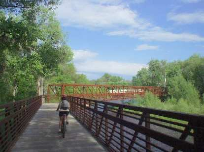 And over a beautiful bridge crossing the Poudre River near Overland Trail Rd.