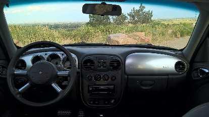 interior, silver dash panels, 2005 Chrysler PT Cruiser GT