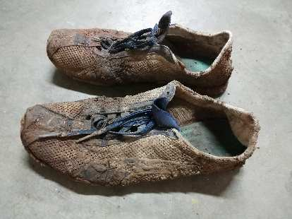 My Puma H. Street NCs were caked in mud after the 2018 Quad Rock 50.