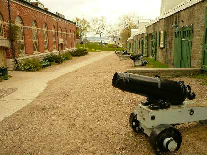 A cannon in Quebec City.