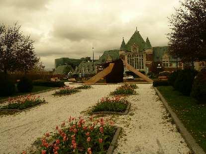 Nice flower garden in Quebec City.