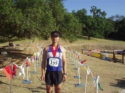 Felix Wong at the finish.