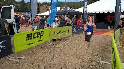 Tamara starting Loop 4 of the 2016 Ragnar Trail Angelfire relay.