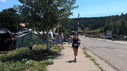 Tamara starting Loop 21 of the 2016 Ragnar Trail Angelfire relay.