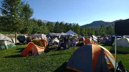 Tent city at Ragnar Snowmass.