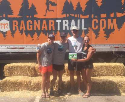 Team Donner Party at the 2017 Ragnar Snowmass Trail Relay.