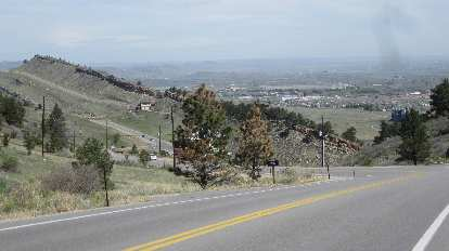 [Mile 40.5] Fort Collins below comes into view.