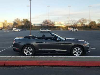 2017 Ford Mustang convertible in Sacramento, California.
