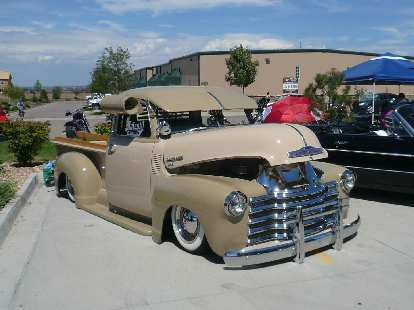A Chevy pickup.