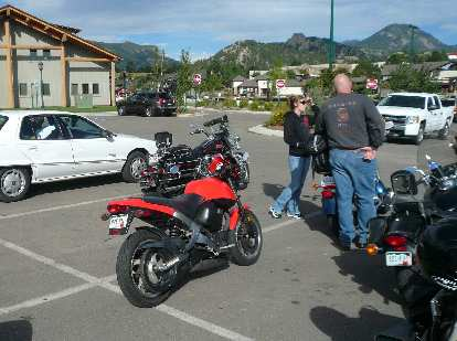 My Buell among the Harleys.