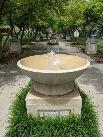 Fountains near Elmwood Park in Roanoke, Virginia.