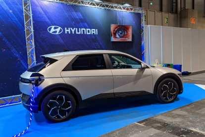 A Hyundai 45 electric concept car was at Expodepor.