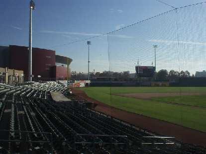 Inside the new Stockton Ballpark, where the Stockton Ports play.
