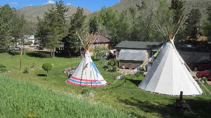 Teepees in the Poudre Canyon, Highway 14, Colorado