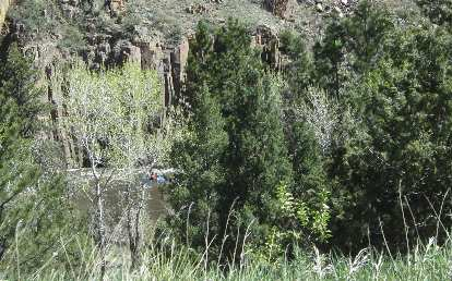 Kayaker along the Poudre River, May 2015.