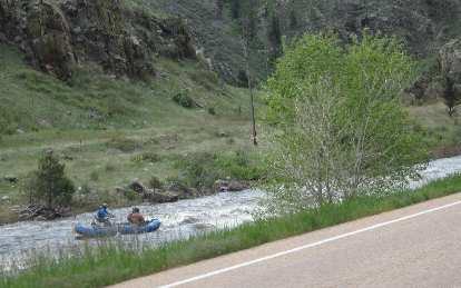 Rafters along the Poudre River, May 2015.