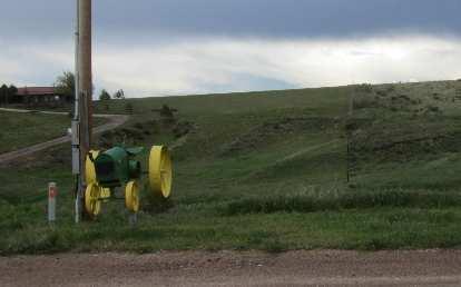 John Deere mailbox.