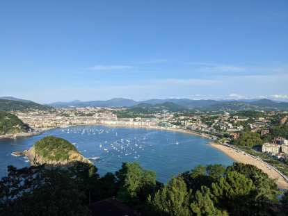 A great view of San Sebastian from Monte Igueldo.