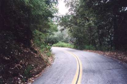 The very steep Jamison Creek Road at Mile 63 which would prove to be humbling!