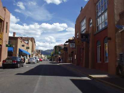 Driving through Old Town Santa Fe felt like being in a foreign country!