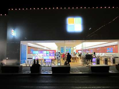 The Microsoft Store at University Village.