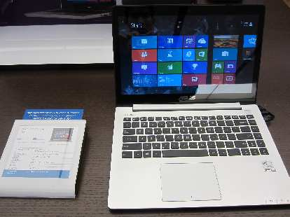 An Asus VivoBook X202E with its Macbook-like materials and construction, touch screen and attractive $499 price tag.