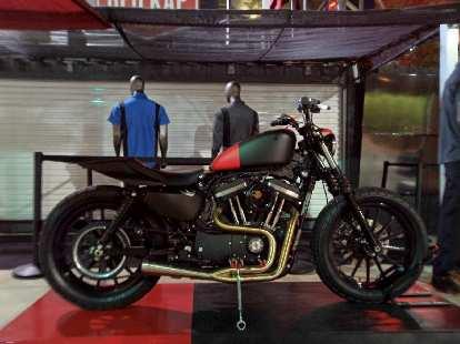 A custom Harley-Davidson Sportster.
