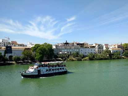The Luna de La Giralda on the Canal de Alfonso VIII in Seville, Spain.