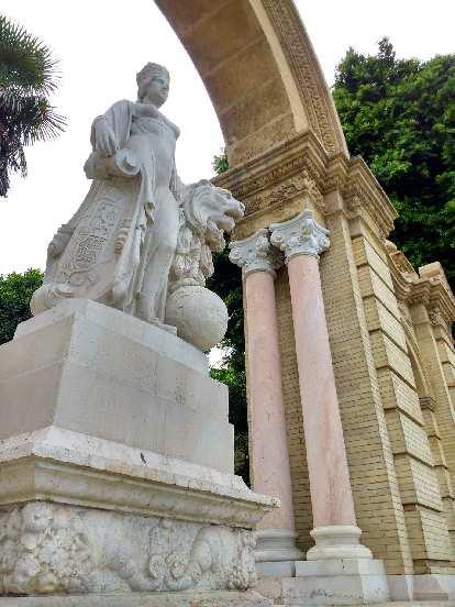 Statue across the street from Seville University.