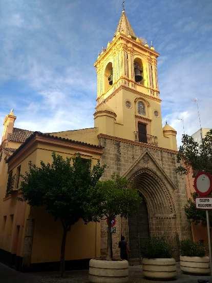 A church near the university in Seville, Spain.