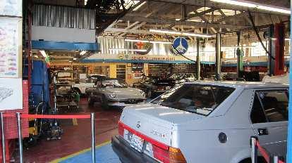 An Alfa Romeo garage.