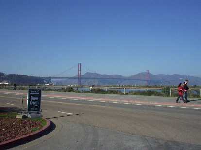 Nice view of the Golden Gate Bridge from the marina district.
