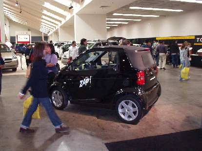 The Smart car makes it to the U.S., currently being distributed by