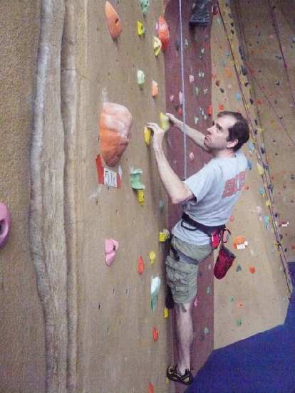 Bryan climbing at Planet Granite San Francisco.