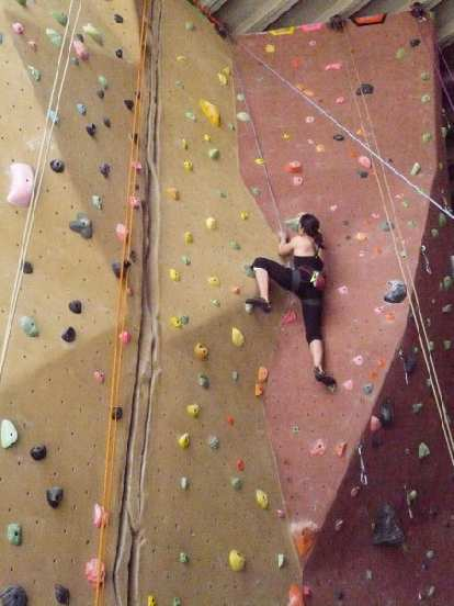 Alyssa doing one of her high steps (though her really high steps are much higher).