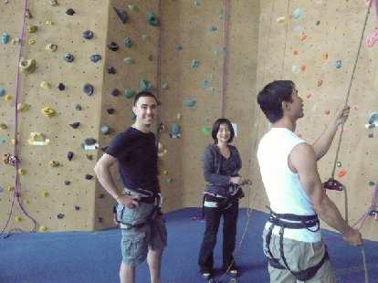 Jeff, Rose, and Felix Wong down below.
