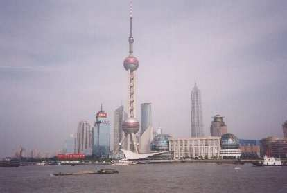 The very futuristic Bund on Shanghai.