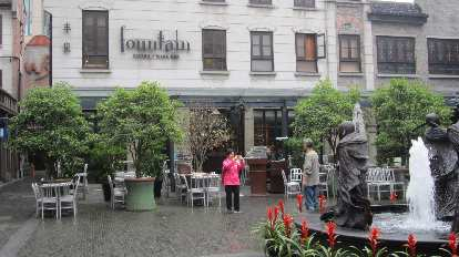 The Fountain Bistro & Wine Bar in the Xintiandi district of Shanghai.