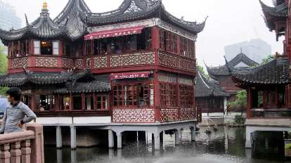 A building preserved from the Ming (or Qing) Dynasty in the Town God's Temple area.