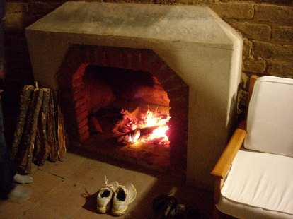 When we came back to the lodge, a fire was lit in the fireplace in the room.  We slept very well that night.