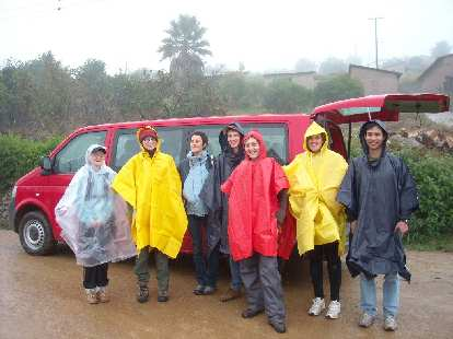Donning ponchos, we were all set for the 10-kilometer hike from San Miguel Amatl