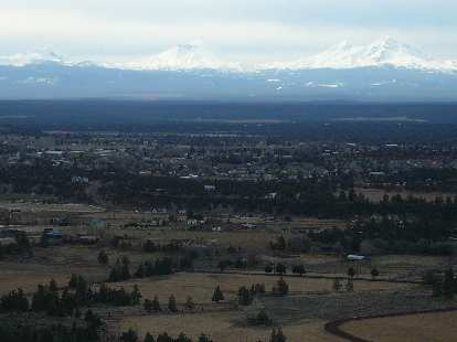 The Cascades in the distance.