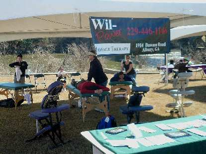 I had a free massage after the race.