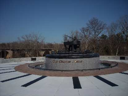 Ray Charles was born in Albany, Georgia, so there is a plaza named after him with his music piped through speakers.