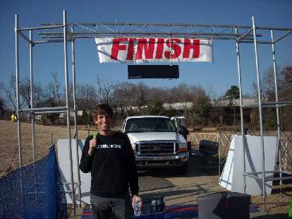 Dan at the finish area the day before the race.