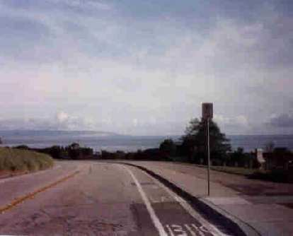 road near Pacific Ocean near end of the 1998 Solvang Double Century