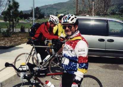 Harry Gretzke, lunch stop, 2000 Solvang Double Century