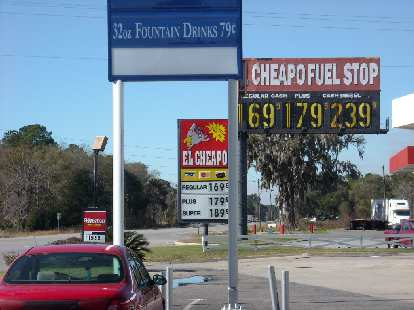 There were lots of El Cheapo Fuel Stops in Georgia.